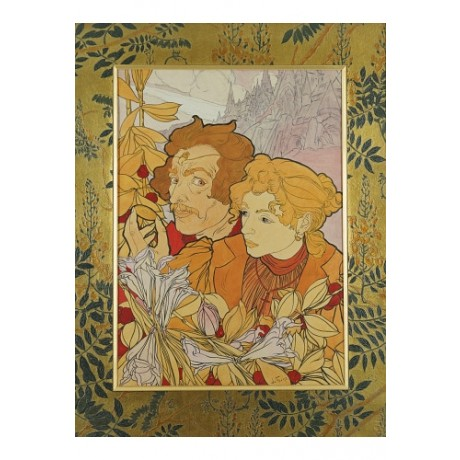 "GEORGES DE FEURE ""Devil's Coin"" print ON CANVAS choose SIZE, from 55cm up, NEW"