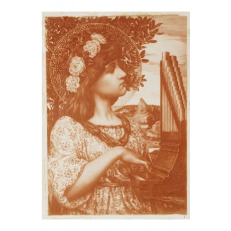 "HENRY RYLAND ""Saint Cecilia"" Religious Art Print choose your SIZE, from 55cm up"