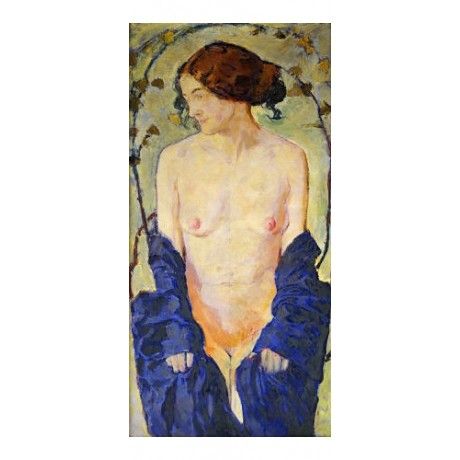 "KOLOMON MOSER ""Standing Nude With Blue Robe"" Nude Print various SIZES, BRAND NEW"