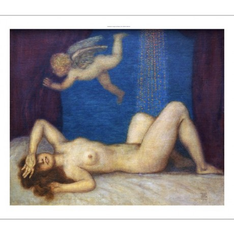 "FRANZ VON STUCK ""Danae And Golden Shower"" Nude Print various SIZES available"