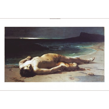 "FERDINAND SCHAUSS ""Peace After Storm"" Male Nude Print various SIZES available"