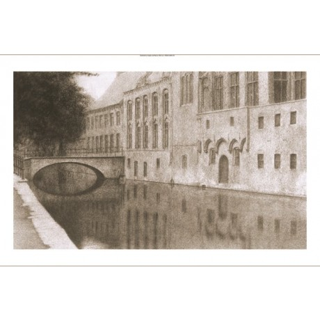FERNAND KHNOPFF Flanders Canal PRINT ON CANVAS choose SIZE, from 55cm up, NEW