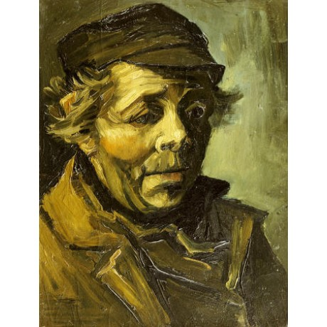 "VINCENT VAN GOGH ""A Peasants Head"" print ON CANVAS choose SIZE, from 55cm up"