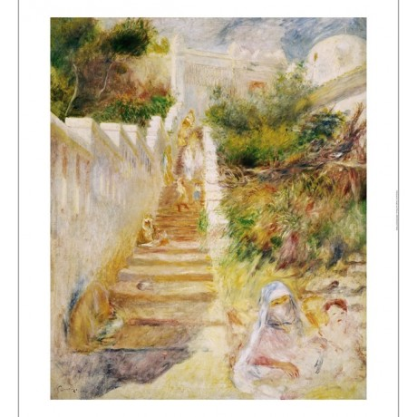 "PIERRE-AUGUSTE RENOIR ""Steps, Algiers"" print NEW choose SIZE, from 55cm up, NEW"