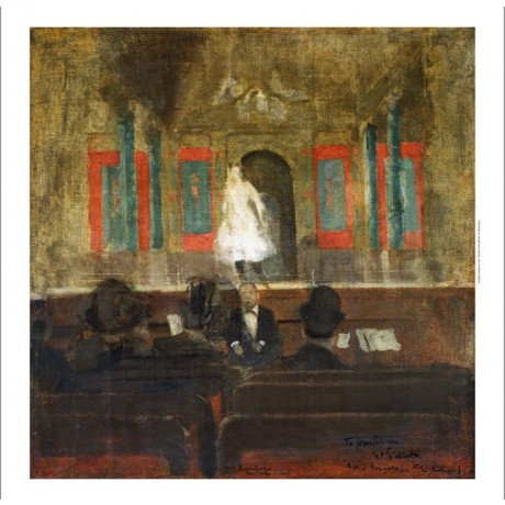 "WALTER RICHARD SICKERT ""Queenie Lawrence on the Stage at Gatti's"" CANVAS PRINT"