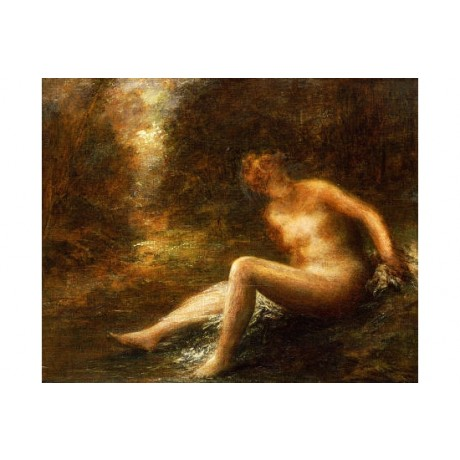 "HENRI FANTIN-LATOUR ""Huntress"" Nude CANVAS ART ! choose SIZE, from 55cm up, NEW"