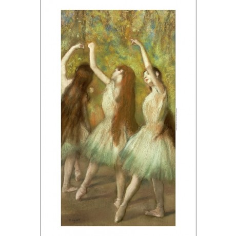 "EDGAR DEGAS ""Green Dancers"" portrait ON CANVAS choose SIZE, from 55cm up, NEW"