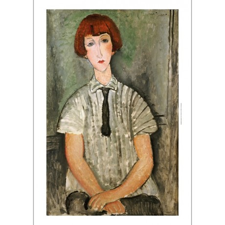"AMEDEO MODIGLIANI ""Young Girl In A Striped Shirt"" print various SIZES, BRAND NEW"