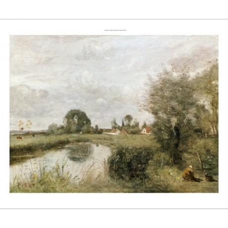 JEAN BAPTISTE CAMILLE COROT Arleux PRINT GICLEE canvas various SIZES, BRAND NEW