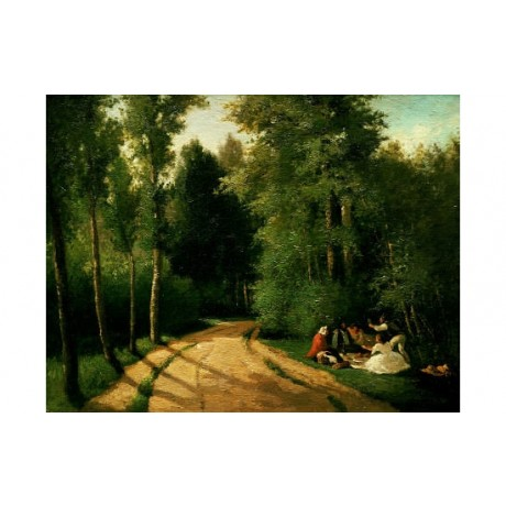 CAMILLE PISSARRO A Picnic At Montmorency CANVAS ART various SIZES available, NEW