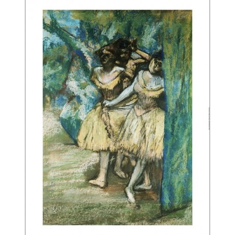 EDGAR DEGAS Three Dancers print ON CANVAS new choose your SIZE, 55cm to X LARGE