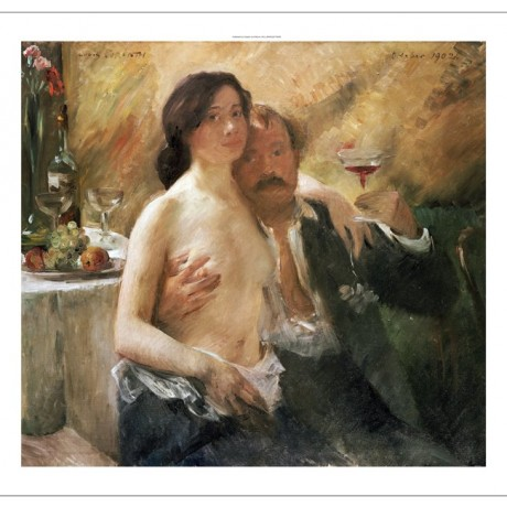 "LOVIS CORINTH ""Self Portrait With Nude Woman"" PRINT various SIZES available, NEW"