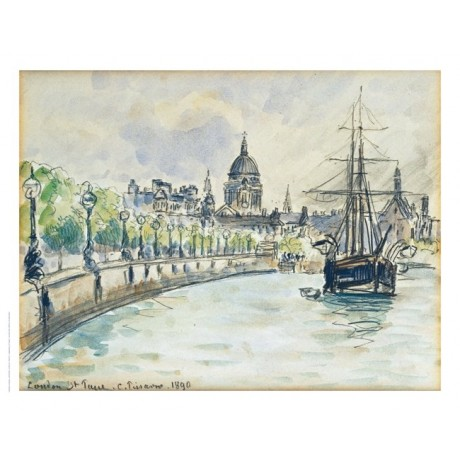 "CAMILLE PISSARRO ""London, St.Paul's Cathedral"" Print various SIZES available"