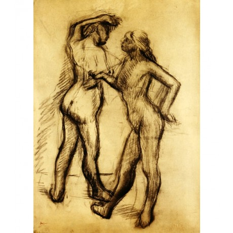 "RAVISHING NEW PRINT! ""Nude Study Two Women Standing"" BUTTOCK breast EDGAR DEGAS"