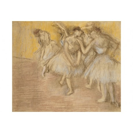 "EDGAR DEGAS ""Dancers On Stage"" print ON CANVAS choose SIZE, from 55cm up, NEW"