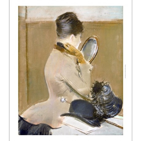 """JEAN LOUIS FORAIN """"Milliner's Shop"""" PRINT ON CANVAS various SIZES available, NEW"""