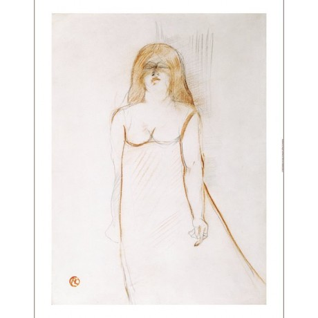 "HENRI DE TOULOUSE-LAUTREC ""Mademoiselle Cocyte"" print various SIZES, BRAND NEW"