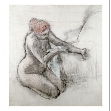 EDGAR DEGAS Nude Woman Drying Herself After Bath PRINT various SIZES available