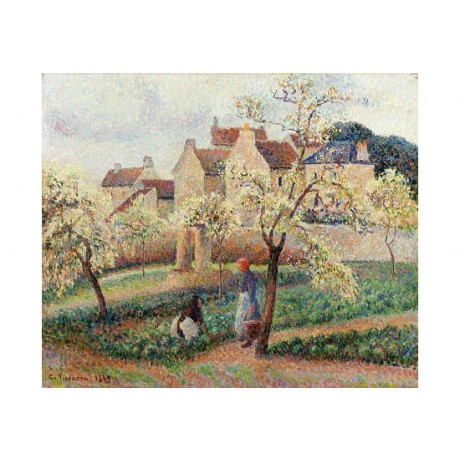 "CAMILLE PISSARRO ""Plum Trees In Blossom"" print NEW choose SIZE, from 55cm up"