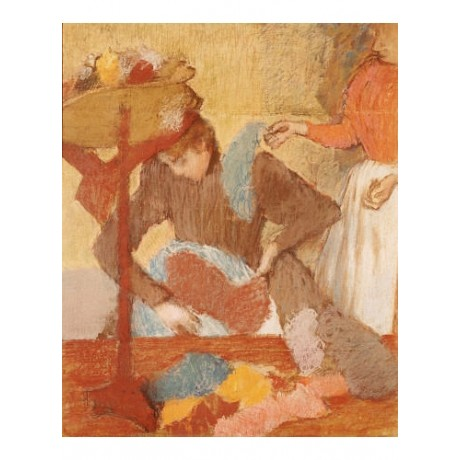 """EDGAR DEGAS """"Hatmaker"""" print ON CANVAS choose SIZE, from 55cm to X LARGE, NEW"""