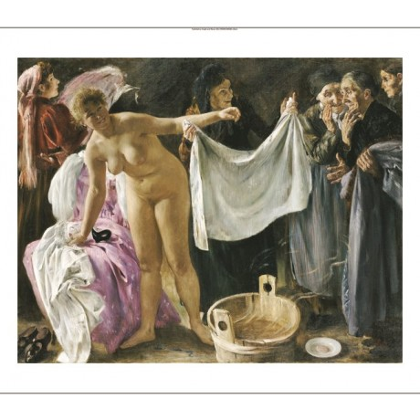 "LOVIS CORINTH ""Witches"" nude portrait ON CANVAS choose SIZE, from 55cm up, NEW"