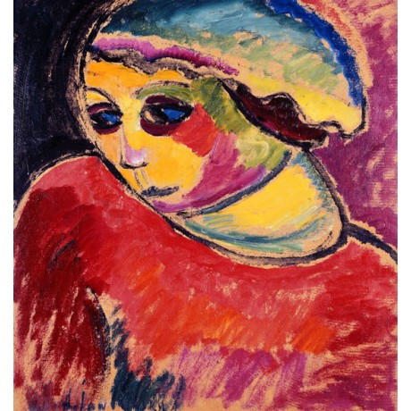 ALEXEJ VON JAWLENSKY Green Bonnet THOUGHTFUL woman looking away VISIT our SHOP