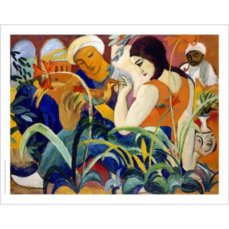 "AUGUST MACKE ""Eastern Women"" abstract ON CANVAS choose SIZE, from 55cm up, NEW"