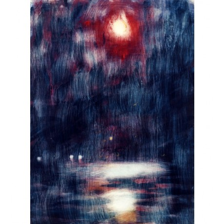 CHRISTIAN ROHLFS Moonlight on Lake Maggiore REFLECTION water rain NEW CANVAS!!