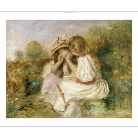 "PIERRE AUGUSTE RENOIR ""Deux Fillettes"" ON CANVAS print various SIZES, BRAND NEW"