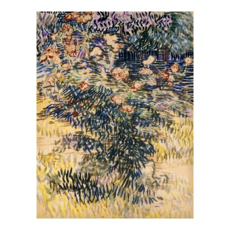 "VINCENT VAN GOGH ""Rose Bay"" print ON CANVAS NEW choose SIZE, from 55cm up, NEW"