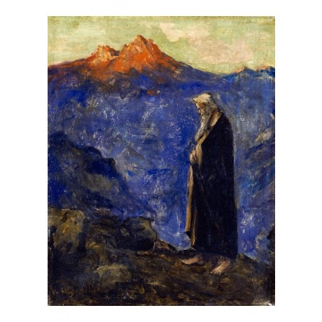 "LESSER URY ""Moses"" ON CANVAS Religious ON CANVAS choose SIZE, from 55cm up, NEW"