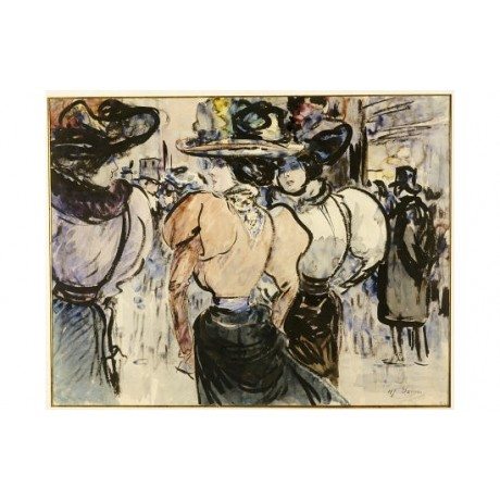 "HENRY SOMM ""Elegantes Dans La Rue"" people print NEW various SIZES available, NEW"