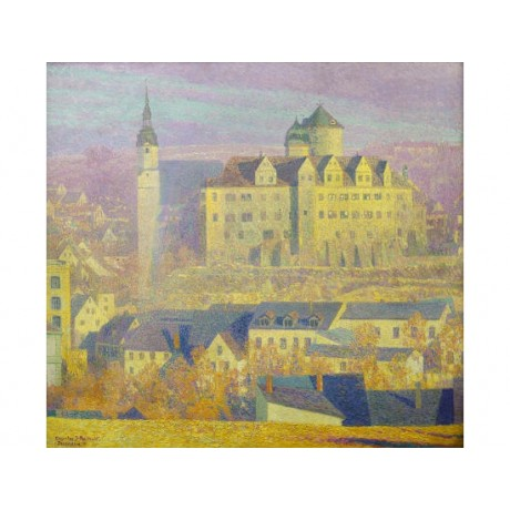 "CHARLES PALMI ""Zschopau"" landscape CANVAS EDITION new! various SIZES, BRAND NEW"