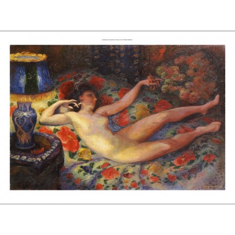"FELIX BRACQUEMOND ""Nude With A Blue Lamp"" Nude Print various SIZES available"