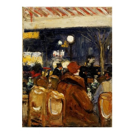 "LESSER URY ""In Cafe"" people print ON CANVAS, stunning! various SIZES, BRAND NEW"