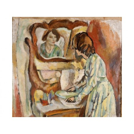 "JULES PASCIN ""Woman At Her Toilet"" PRINT ON CANVAS choose SIZE, from 55cm up"