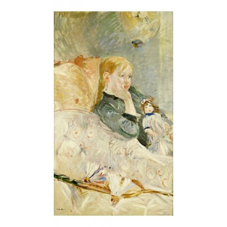 "BERTHE MORISOT ""Young Girl With A Puppet"" print NEW various SIZES available, NEW"