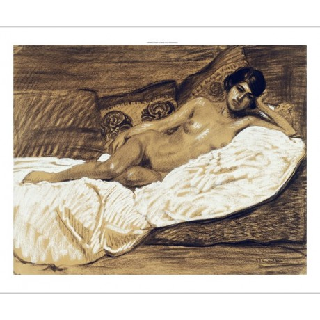 "BE SEDUCED BY NEW CANVAS PRINT ""Nude Outstretched"" THEOPHILE ALEXANDRE STEINLEN"