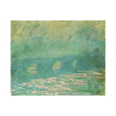 "CLAUDE MONET ""Waterloo Bridge."" landscape print NEW various SIZES available, NEW"