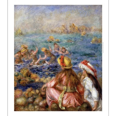 "PIERRE AUGUSTE RENOIR ""Bathers"" swimming ON CANVAS choose SIZE, from 55cm up"