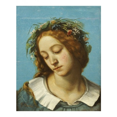 "GUSTAVE COURBET ""Ophelia"" Shakespeare CANVAS ART ! choose SIZE, from 55cm up"