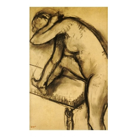 "EDGAR DEGAS ""Study Of A Dancer"" nude print ON CANVAS various SIZES available"