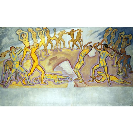 KOLOMON MOSER Clash of the Titans VIOLENT battle death yellow NEW CANVAS PRINT