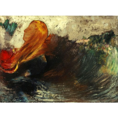 ODILON REDON The Death of Ophelia POETIC tragedy blonde river NEW CANVAS PRINT