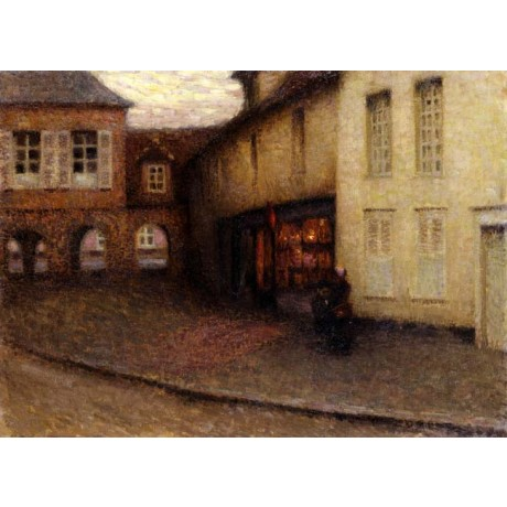 HENRI LE SIDANER The Little Shop, Gerberoy MARKETPLACE arch woman CANVAS PRINT