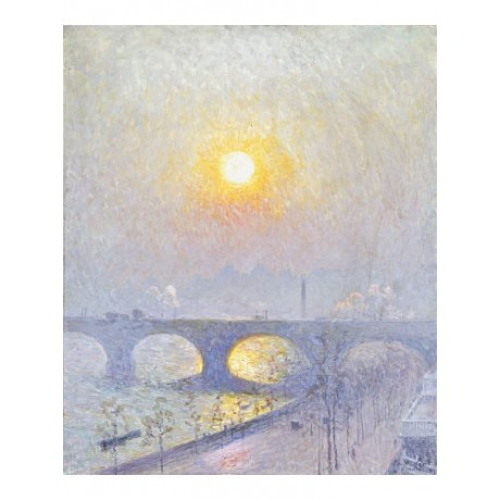 "EMILE CLAUS ""Sunset Over Waterloo Bridge"" CANVAS ART ! various SIZES, BRAND NEW"
