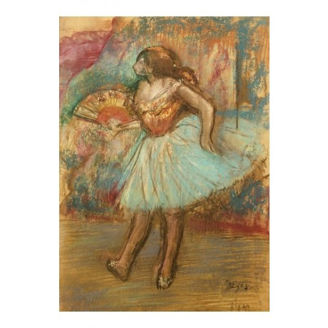 "EDGAR DEGAS ""Dancer With A Fan"" print ON CANVAS choose SIZE, from 55cm up, NEW"