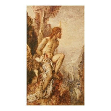 """GUSTAVE MOREAU """"Torture Of Prometheus"""" myth PRINT choose SIZE, from 55cm up, NEW"""