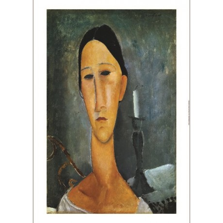 "AMEDEO MODIGLIANI ""Hanka Zborowska with a Candlestick"" various SIZES, BRAND NEW"