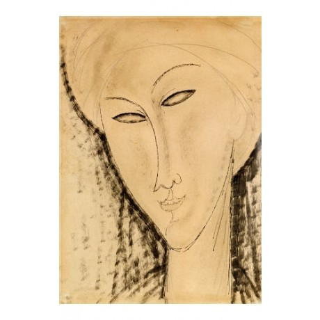 "AMEDEO MODIGLIANI ""Tete De Femme"" Art choose your SIZE, from 55cm up"